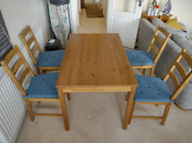 IKEA JOKKMOKK dining table and 4 chairs with pads