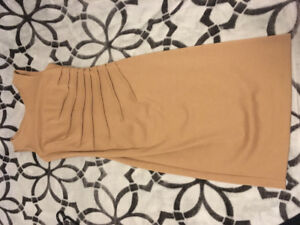 Beige fitted dress!! Excellent condition