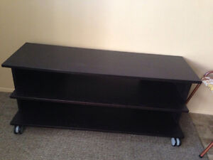 IKEA black/brown wood tv stand for $30 obo