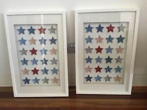 NURSERY/BOYS ROOM STARS BOXED PRINTS Illawong Sutherland Area Preview