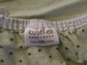 2 Fitted warm 100% cotton sheet - Kushies for Pack N Play