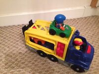 Fisherprice car transporters With racing cars