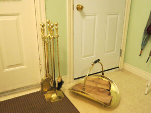 Fireplace Tool Set and Wood Holder