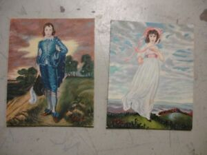 Gainsborough Blue Boy & Pinky Oil Paintings