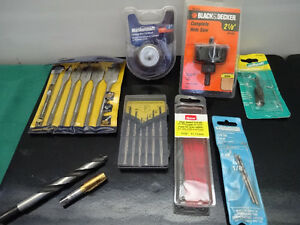 spade bit set, tapered tap, cylindrical rotary file, hole saw...