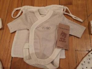 Chandail body en cotton biologique pour bébé prématuré