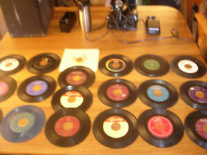Vintage 45 RPM Vinyl Record-Lot of 19