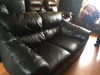 Leather 2 & 3 sofa