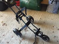 Collapsible golf trolley