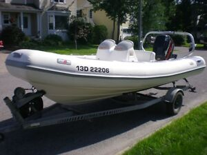 Inflatable rigid boat  (R.I.B.) AVON 5.6 DL Adventure & 115 HP