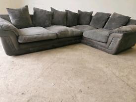 Grey fabric Corner sofa couch suite 🚚🚚