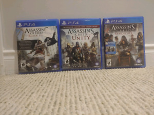 PS4, Assassin's creed (3) (used)