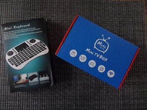 Android TV Box & Wireless Keyboard