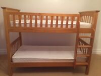 M&S Pine Bunkbed with mattresses