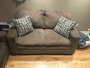Microsuede sofa & love seat for sale (excellent condition)