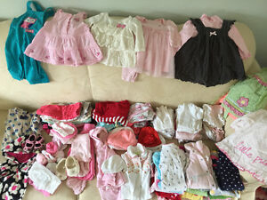 60 plus 0-3 month baby girl clothing