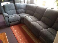 Grey Corner Reclining Sofa