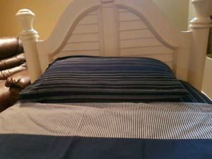 Pair of Solid Wood Single Beds plus Linens