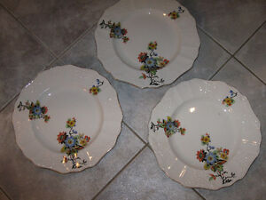 THREE BEAUTIFUL OLD 10-INCH... EMPIRE ENGLAND... CHINA PLATES