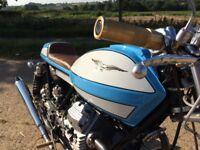 Moto Guzzi custom built cafe racer