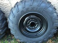 Stock rims and tires from Yamaha grizzly