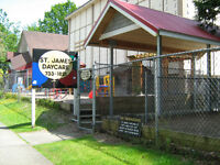 Spots opening up at St James Daycare over the summer