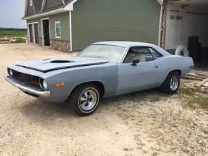 1973 Plymouth Cuda BS23 real 340 Hi-Perf #'s matching Barracuda