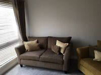 2 x 2 seater plus chair with matching cushions