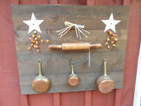 "BARN BOARD KITCHEN DECOR 31"" X 25"""