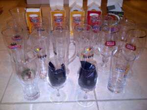Verres de collection divers (NEUFS.Ideal pour amateurs de biere)