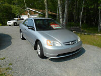 2002 Honda Civic Coupe (2 door) NEW M.V.I !!!!! MINT !!!!!