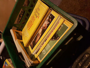 Lot of National Geographic books!