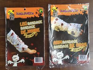 NEW in Pkgs. Halloween  Arm and Leg Bandages. Both for $2.00