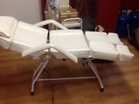 White massage bed