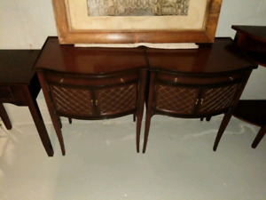*2 Antique Wood Night Stand Tables*
