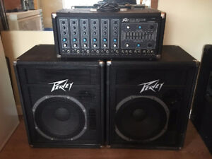 Vintage Peavey PA System and Yorkville Powered Subwoofer