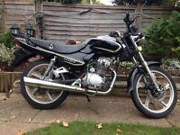 LIFAN 125cc 2007 MOTORBIKE BLACK CHROME DRIVES LOVELY FULL LOG BOOK 2 KEYS DRIVES LOVELY