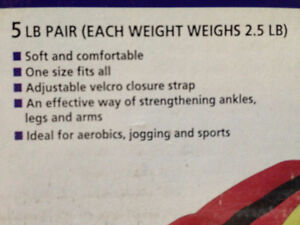 Soft Wrist Ankle Weights from York Fitness Kitchener / Waterloo Kitchener Area image 2