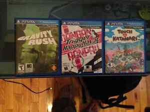 Selling gravity rush, danganronpa and touch my katamari