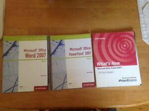 For Sale: Lot of 4 Microsoft Word, Powerpoint, and Project Books Sarnia Sarnia Area image 1