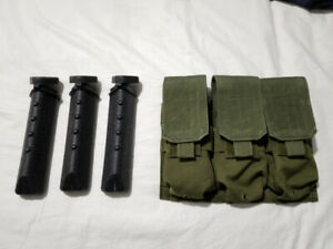 Condor Triple Mag Pouch Olive Drab + 30 Round Tactical Pod