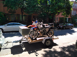 Light Weight Dual Motorcycle Trailer