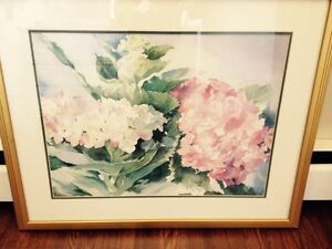 Pastel painting in gold frame