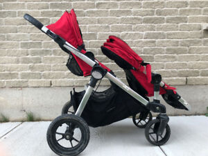 City Select Double Stroller with Accessories. Good Condition.