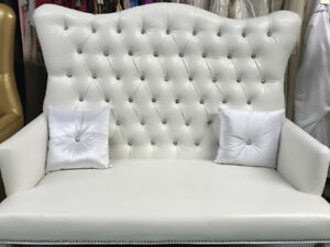 Love seat and high back chairs