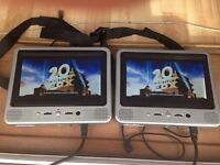 proline twin 7' in car dvd player all leads and carry case