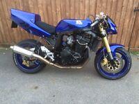 Suzuki GSXR 1100 street fighter custom classic retro super motor bike Micron HEL Dunlop Dynojet K&N