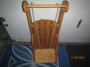 Hand crafted solid wood sled