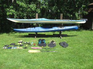 Two Fully Equipped Current Designs Kayaks and Gear