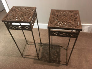 2 Wrought Iron Stands